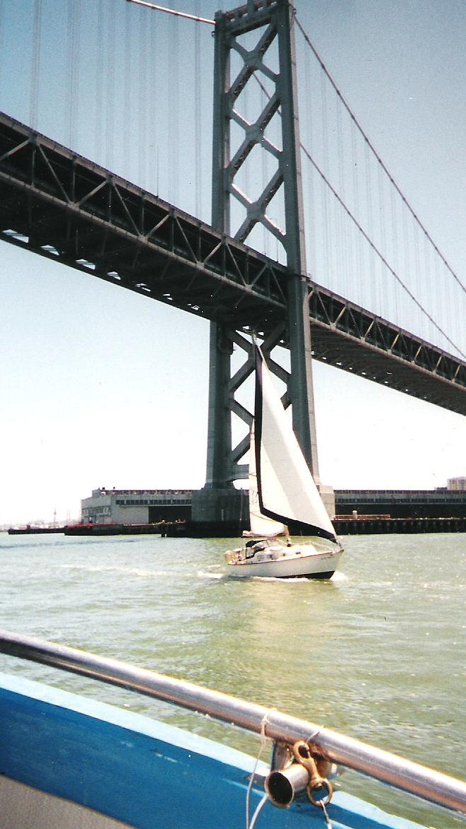 Bay Bridge & Sailboat