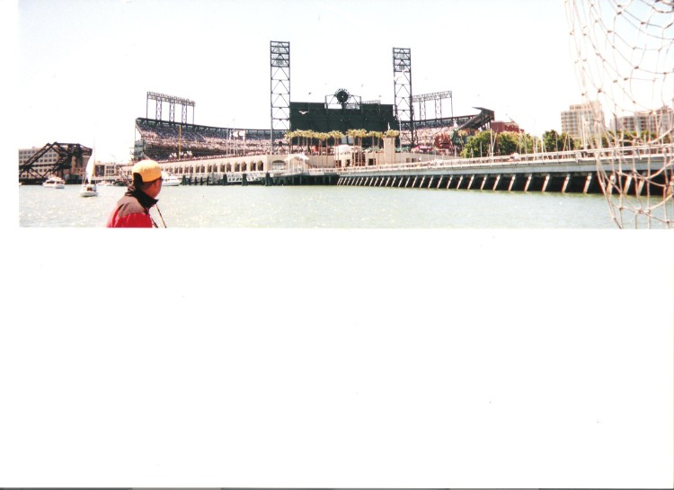 McCovey Cove outside of Pac Bell Park after a deep sea fishing trip