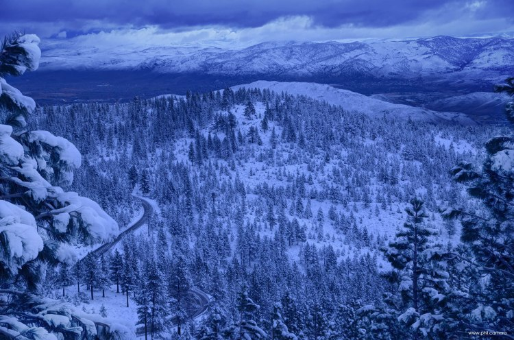 From Mount Rose looking toward the east after a storm earlier this week, Nov 2015