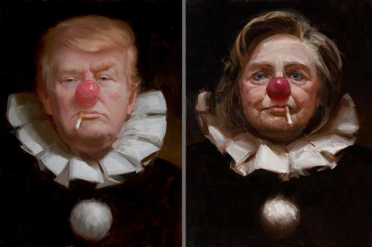 clinton-trump-clowns